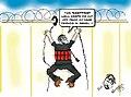 Suicide bomber climbing West Bank Barrier cartoon.jpg