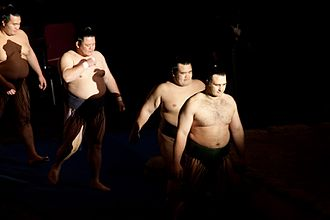 2009 in sumo - Sadogatake stable wrestlers appear at the Heineken Music Hall, Amsterdam in June