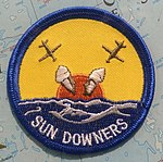 Sundowners (VF-111) patch - Oregon Air and Space Museum - Eugene, Oregon - DSC09801.jpg