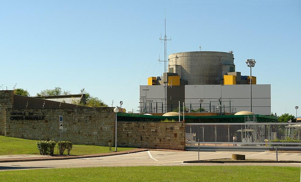 Superphenix, a nuclear power plant built along the Rhone River at the Creys-Malville site, in Creys-Mépieu (Isère, Rhône-Alpes, France).