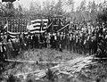 Survivors of the Battle of Olustee, gathered at the Monument dedication- Olustee, Florida (5915144943).jpg