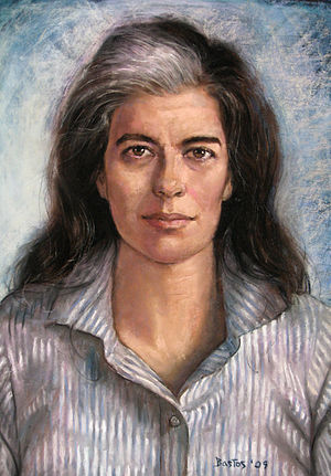 Susan Sontag - Susan Sontag in 1994, by Juan Fernando Bastos (commissioned by The Gay & Lesbian Review Worldwide for the 2009 May–June cover)