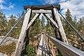 Suspension bridge over Pirunkuru at Kivitunturi in Savukoski, Lapland, Finland, 2021 June.jpg