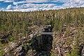 Suspension bridge over Pirunkuru on Kivitunturi, Savukoski, Lapland, Finland, 2021 June.jpg