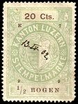 Switzerland Lucerne 1899 revenue 6 20c - 80 - E 7 99.jpg