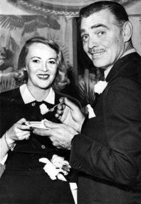 Sylvia with Clark Gable
