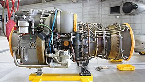 T700-IHI-401C2 engine left side view at JMSDF Maizuru Air Station July 16, 2016.jpg