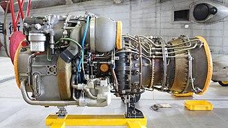General Electric T700 - Image: T700 IHI 401C2 engine left side view at JMSDF Maizuru Air Station July 16, 2016