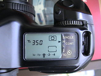 Canon T90 - The T-90's LCD screen and control wheel