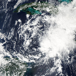 Hurricane Richard - Image: TD19 shortly before being classified 2010 10 20