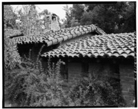 TILE ROOFS AND CHIMNEY - Casa Tierra, 15231 Quito Road, Saratoga, Santa Clara County, CA HABS CAL,43-SARA,1-4.tif