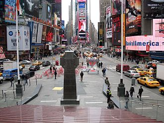 TKTS - Times Square as seen from bleacher seats
