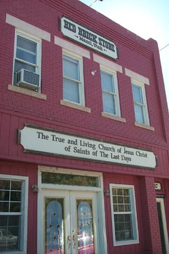 True and Living Church of Jesus Christ of Saints of the Last Days - The Red Brick Store in Manti, Utah. Operated by the TLC Church.