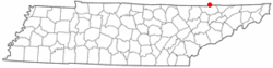 Location of Cumberland Gap, Tennessee