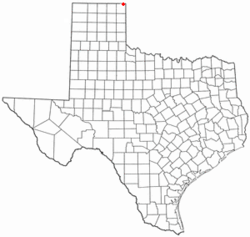 Location of Follett, Texas