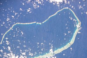 Tahanea - NASA picture of Tahanea Atoll
