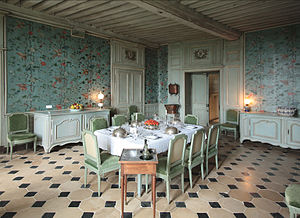 Château de Talcy - Restored dining room.