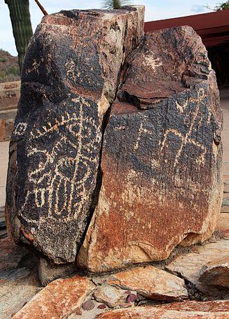 Taliesin West - Taliesen petroglyph