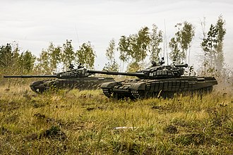 3rd Motor Rifle Division - T-72B tanks of the 3rd Motor Rifle Division at the Pogonovo proving grounds in Voronezh Oblast, 2017.