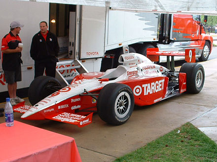 The Target Chip Ganassi Racing IndyCar visiting Purdue University Target IndyCar.jpg