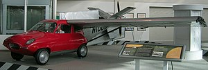 Taylor-Aerocar-III left front view, wing out, The Museum of Flight.jpg