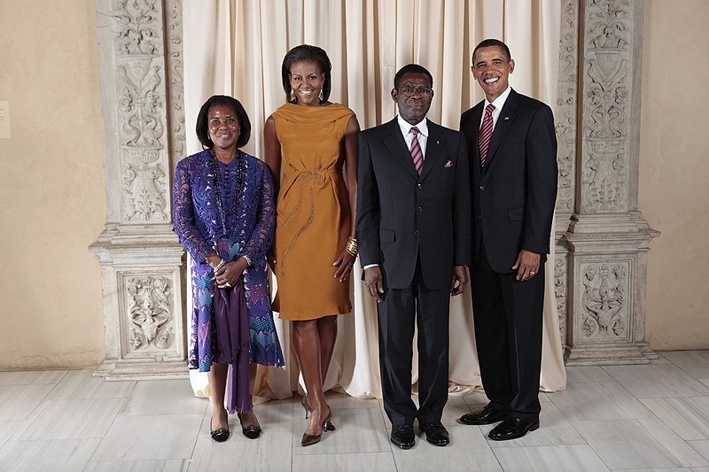 Obama and his buddy Teodoro Obiang