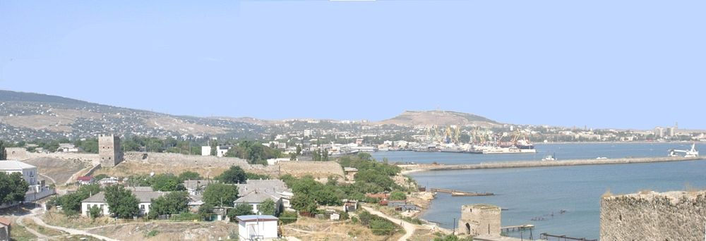 A panoramic image of the town of Theodosia.