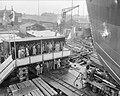 Tewaterlating motorvrachtboot Van Noort Werf Bolle N te Bolnes, Bestanddeelnr 906-7054.jpg