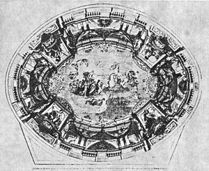 Théâtre Historique - The ceiling of the Théâtre Historique