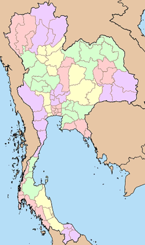 Monthon - Map of Thailand 1915