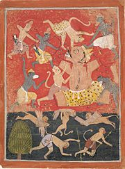 The Demon Kumbhakarna Is Defeated by Rama and Lakshmana 1