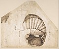 The Dioscuri on Monte Cavallo; verso- Study of a Spiral Staircase MET DP801203.jpg