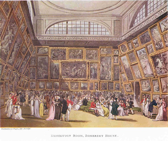 File:The Exhibition Room at Somerset House by Thomas Rowlandson and Augustus Pugin. 1800..jpg