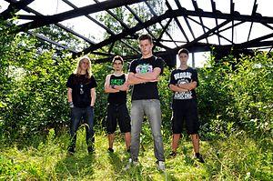 Die Band im Juni 2012, v. links n. rechts: Christian, Tizian, Rick, Moritz