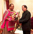 The Minister of State for Culture (Independent Charge), Tourism (Independent Charge) and Civil Aviation, Dr. Mahesh Sharma meeting the King Maswati III of Swaziland, at Mbabane, Swaziland on July 14, 2015.jpg
