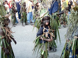 Aklanon people - A group of dancers performing in the  2007 Ati-Atihan Festival