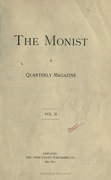 The Monist Volume 2.djvu