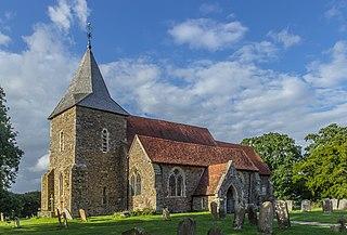Peasmarsh village in the United Kingdom