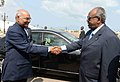 The President, Shri Ram Nath Kovind being received by the President of Djibouti, Mr. Ismail Omar Guelleh, at Presidential Palace, in Djibouti on October 04, 2017.jpg