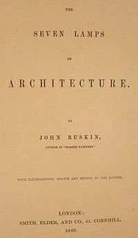The Seven Lamps of Architecture cover