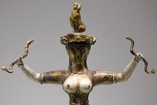 The Snake Goddess, Knossos, 1650-1550 BC, AMH, 145152