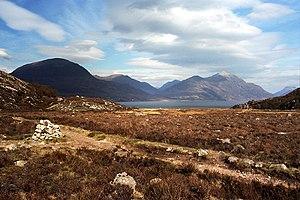 Torridon Hills - Image: The Torridons from the Shieldaig Peninsula