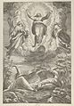 The Transfiguration with Christ flanked by two saints and with the Apostles below MET DP836956.jpg