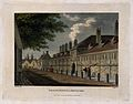 The Trinity Hospital, Greenwich, with the sails of a ship in Wellcome V0013162.jpg