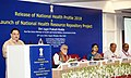 The Union Minister for Health & Family Welfare, Shri J.P. Nadda addressing at the release of the National Health Profile (NHP) 2018 and launch of the National Health Resource Repository (NHRR), in New Delhi.JPG