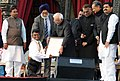 The Vice President, Shri Mohd. Hamid Ansari presenting the National Youth Award 2009-10 to Shri A. Nelson of Tamil Nadu at the 16th National Youth Festival 2011, in Udaipur, Rajasthan on January 12, 2011.jpg