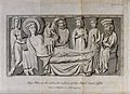 The adoration by the magi of Christ, shown as young and old. Wellcome V0034656.jpg
