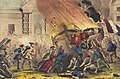 The burning of the royal carriage during the French revolution of 1848.jpg