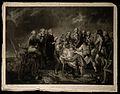 The death of General John Burgoyne on the battlefield. Engra Wellcome V0006916.jpg