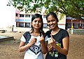 The first time voters showing mark of indelible ink after cast their votes, at a polling booth, during the 8th Phase of General Elections-2014, in Barjora (under 37-Bishnupur PC), West Bengal on May 07, 2014.jpg